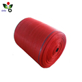 pe knitted plastic raschel mesh bag roll for packaging machine