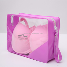 Pink PVC Bikini Bag with Zipper Underwear Promotional Gift Packaging Bag