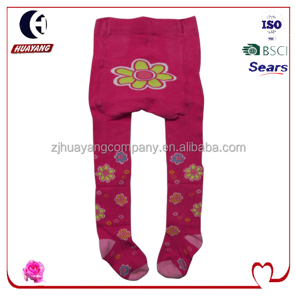 baby girls pretty designs cotton legging tights with flowers