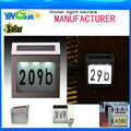 solar doorplate lamp house number