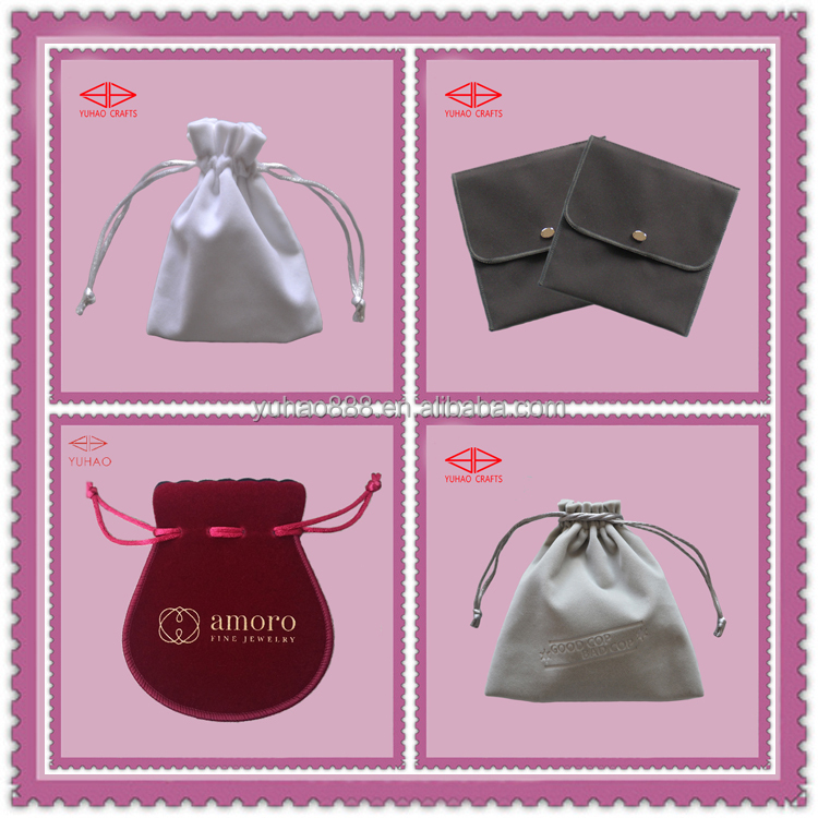 Velvet Fabric Gift Bags LOGO Printing Customized