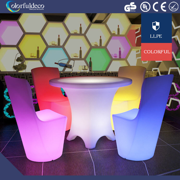 Modern LED furniture 16 colors changing LED <strong>bar</strong> table