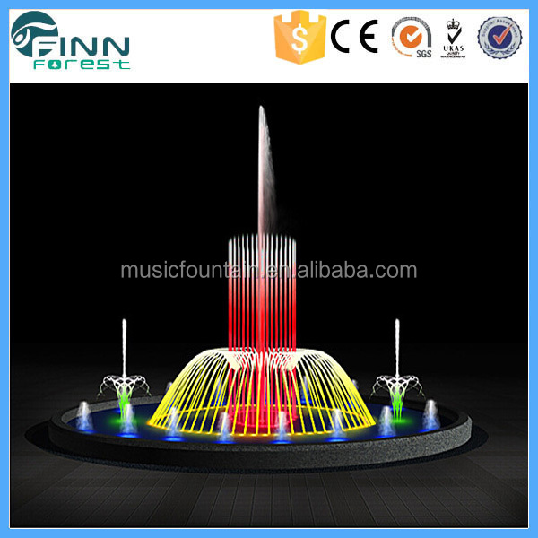 pool decration RGB lighting water fountain parts of supplier