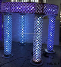 Romantic crystal wedding centerpiece mandap decoration for wedding decoration mandap 16 colors can change MBD-015