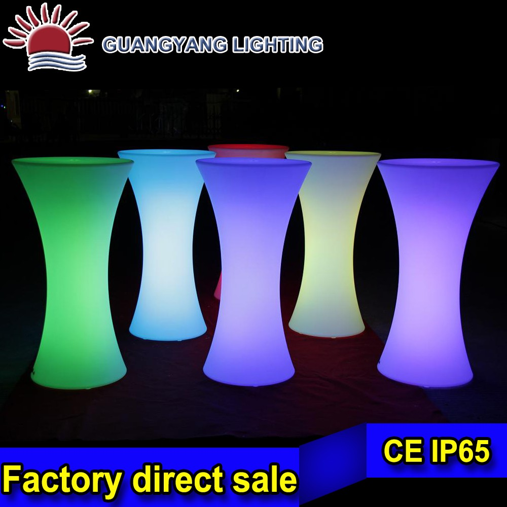 Waist night club illuminated led bar table furniture