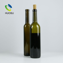 alibaba china high quality 750ml 375ml Antique Green Bordeaux red Wine Bottle