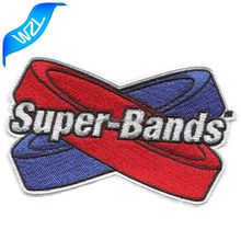 Fabric design embroidery sew on super bands clothing letters logo patch