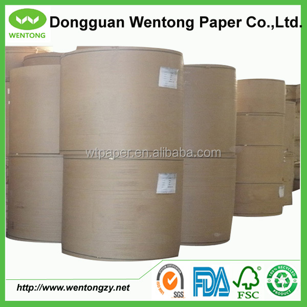 Recycled brown craft paper for making cement bags
