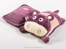 Cartoon animal plush doll design double electric hot water bottle warmer
