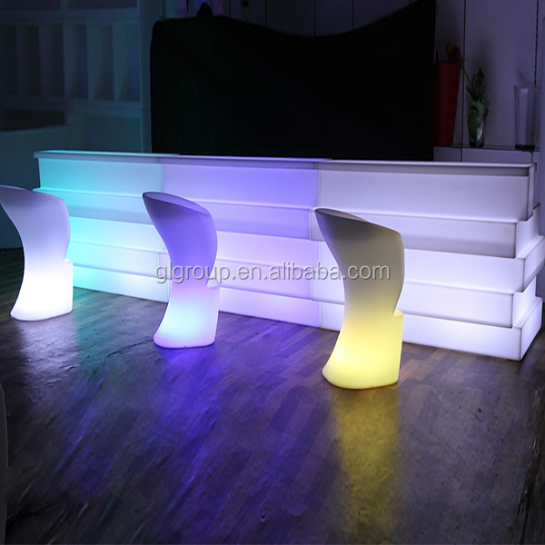 PE outdoor furniture Rechargeable <strong>bar</strong> counter colorful event <strong>bar</strong> furniture
