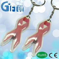 Reflective Promotion PVC Key Chain with Different color and Shape