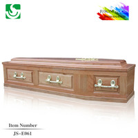 High quality solid ash wood high quality import JS-E061 western coffin