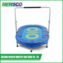 Kids Folding Mini Indoor Oval Square Mini Trampoline With Handle Bar
