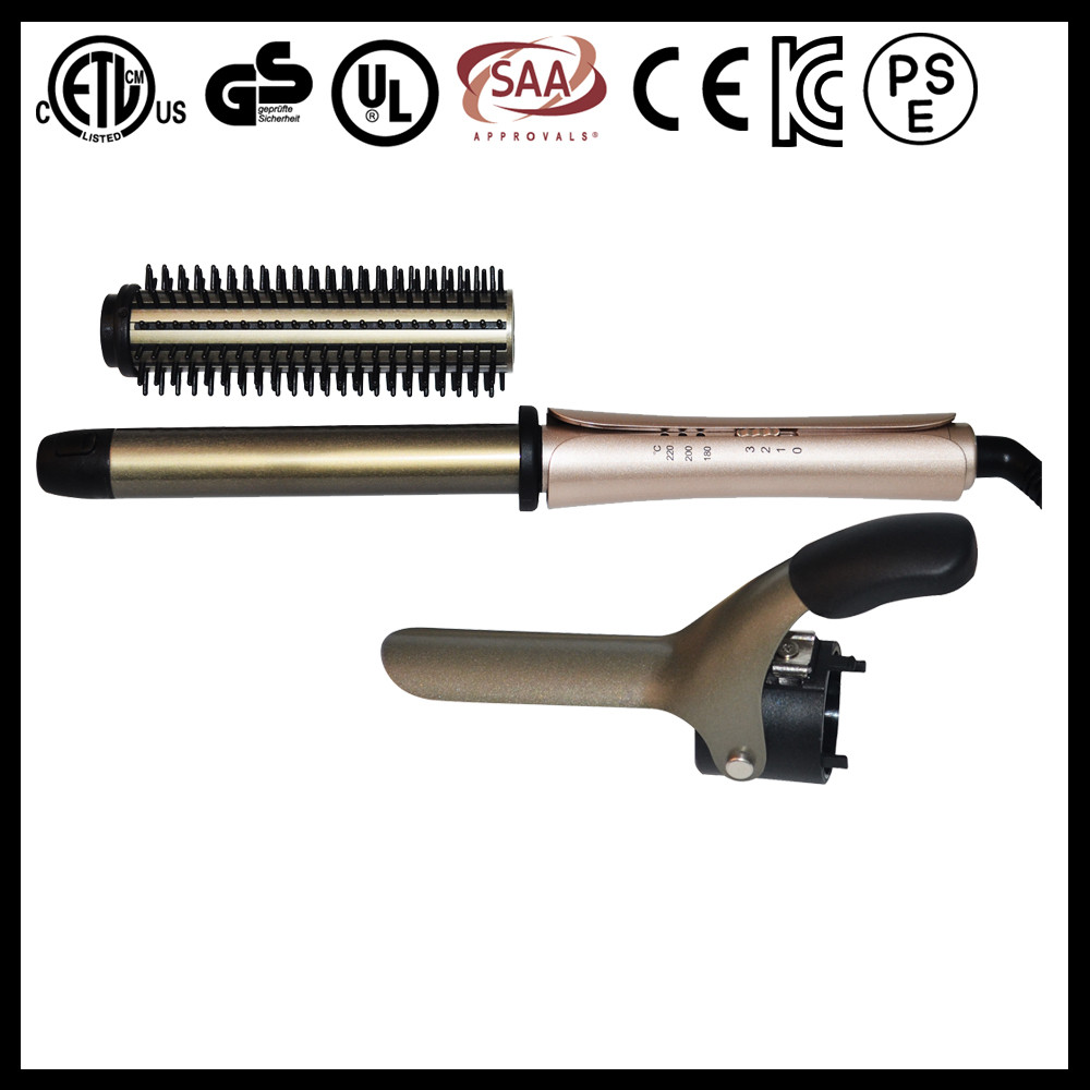 US EU JAPAN KOREAN private label 3 setting temperature 3P ceramic hair styling machine