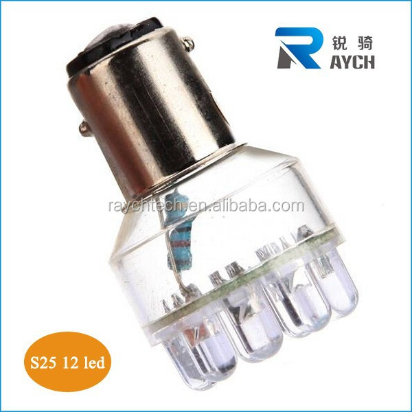 High Quality S25 12led 1157 1156 Led Bulbs ,12 Volt Bulb1156 Led Bulb,Auto Tuning 12 Volt Bulb