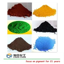 Colorful powder inorganic pigment iron oxide red yellow black blue dye