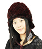CX-C-52 Custom Fashion In-stock High Quality Knitted Mink Fur Russian Lady Hat