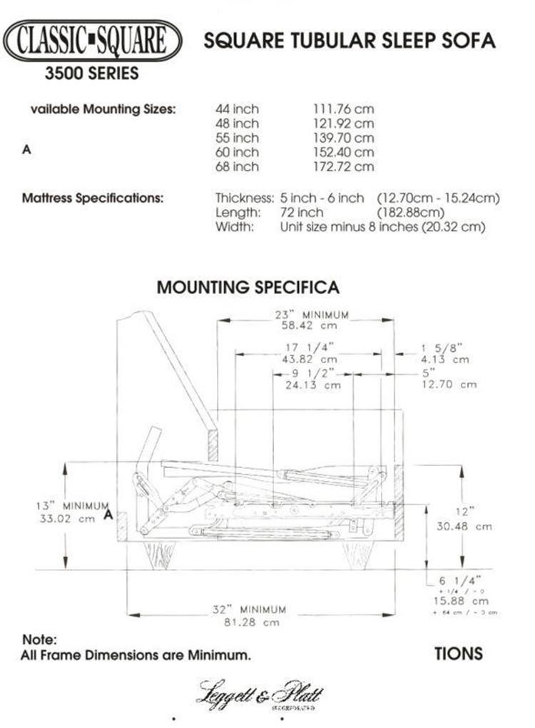 Leggett Amp Platt Folding Sofa Bed Frame Of Different Size