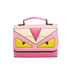 top sale brand mini handbag lady's bag with 5 colors wristlet bag for lady with angry bird eyes