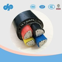 0.6/1KV Aluminum Conductor PVC/XLPE Insulated 4 Core Power Cable 240 sq mm