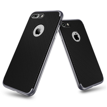 Factory ODM mobile phone case for red mi note 3 carbon fiber line 2 in 1 cell phone case