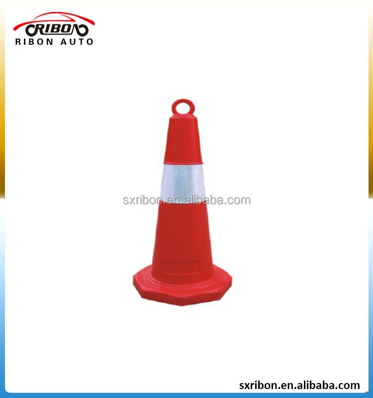 75cm plastic collapsible and portable traffic cone with reflective tape
