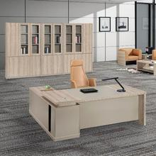 Modern Manager MDF Design Office Table With File Cabinet