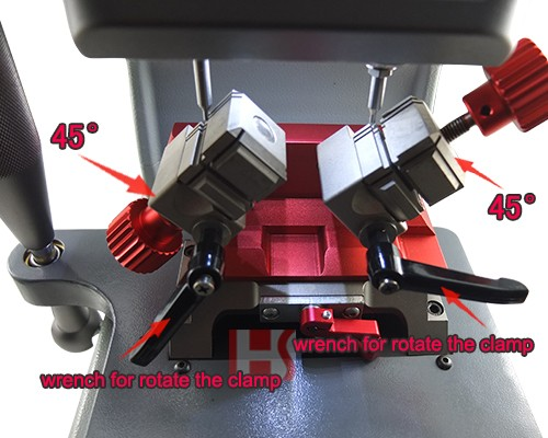 New 45 degree Angle all side Clamp Vertical L3 Key Cutting Machine locksmith tool (110V-220V)081069