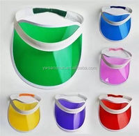 OEM Fashion High Quality Sun Visor Customs Colourful Plastic Promotional Sun Visor PVC Hat