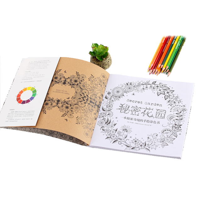 Wholesale 96 pages secret garden drawing book kids gift relaxing coloring book for children and adults