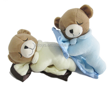 Custom plush bear kids toys soft sleeping bear plush toys