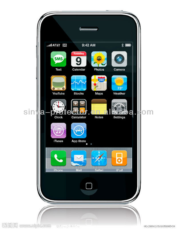 high anti scratch waterproof clear matte screen protector film for iphone3g
