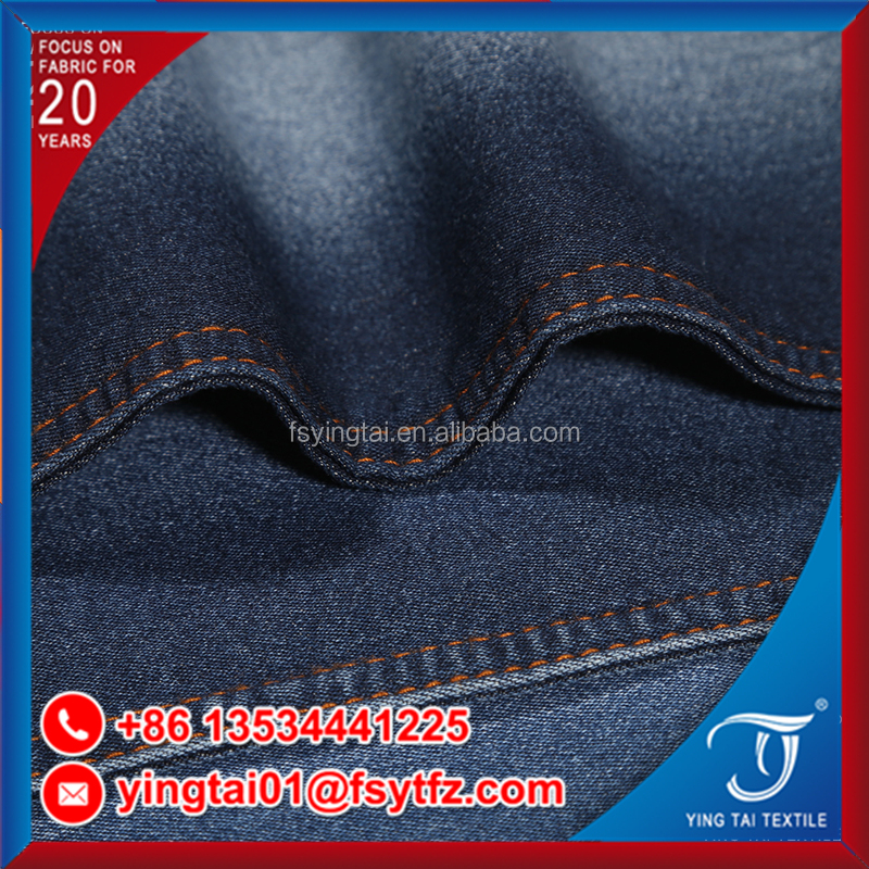 Indigo color super good quality factory directly sell cotton spandex denim fabirc jean fabric