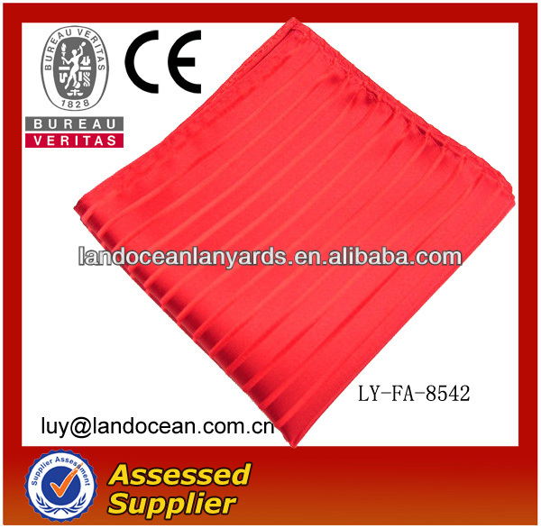 Hot Selling Design Polyester Red Pattern Handkerchief