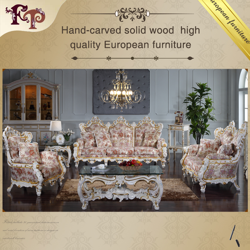 Classic European Royal Style Living Room Furniture Luxury French