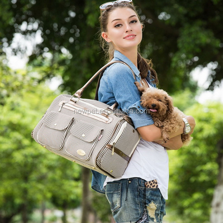 Top level fashion design european style pet carry bag petcare dog carrier