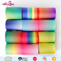 Custom size double face rainbow thermal transfer grosgrain ribbon for gift box