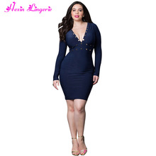 2017 New Ladies Sex Bodycon Long Sleeve Clothes Women Sexy Dress