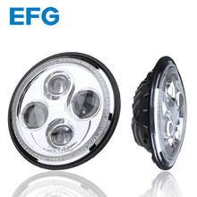 H4 Motorcycle LED Headlight 7 Inch Round Headlight For Harley Off Road Light Retrofit