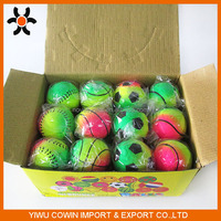 Solid fluorescence rubber football basketball tennis baseball, rubber bouncy toy ball