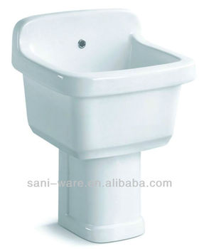 Good Price Ceramic Mop Sink With Pedestal Made In China S8510