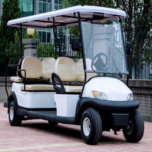 Popular white 4KW 6 person electric used golf cart rear seat