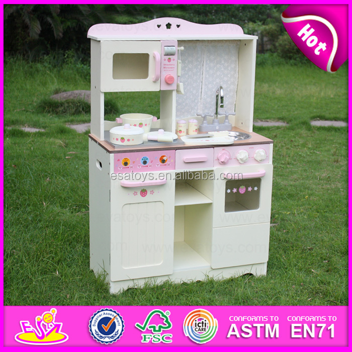 2016 wholesale wooden kids kitchen set w10c058 a11 buy for Cheap childrens kitchen sets