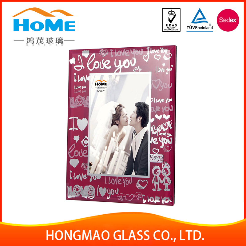 2017 hot style hot sell sublimation painting square glass picture photo frame
