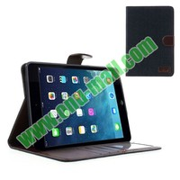 Jeans Style Folio Leather Case for iPad Mini 2 Retina