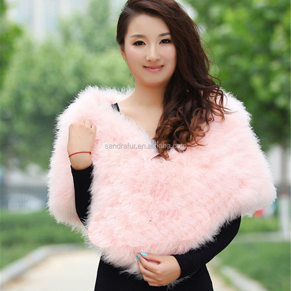 SJ085-03 Fashion Women Scarf and Shawls Furs/Pure White Evening Dress Shawls