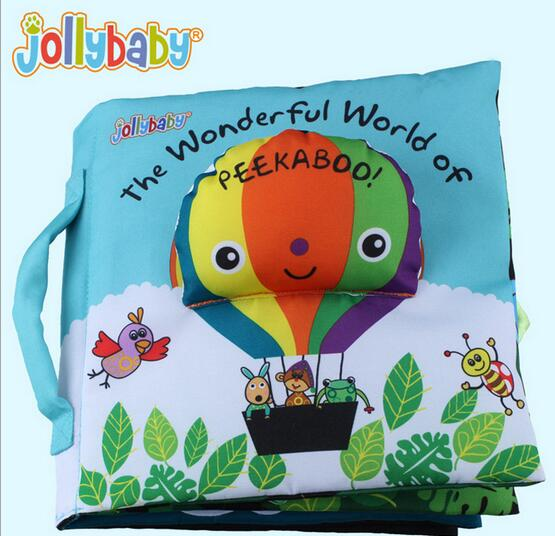 jollybaby brand toy cloth book eductional toys