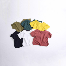 MS75383B Candy color kids pure cotton plain t-shirts