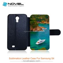 Best Selling sublimation pu leather mobile phone case cover for samsung galaxy s4, DIY phone case