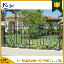 Simple design best selling square tube iron fence NT--WI041J